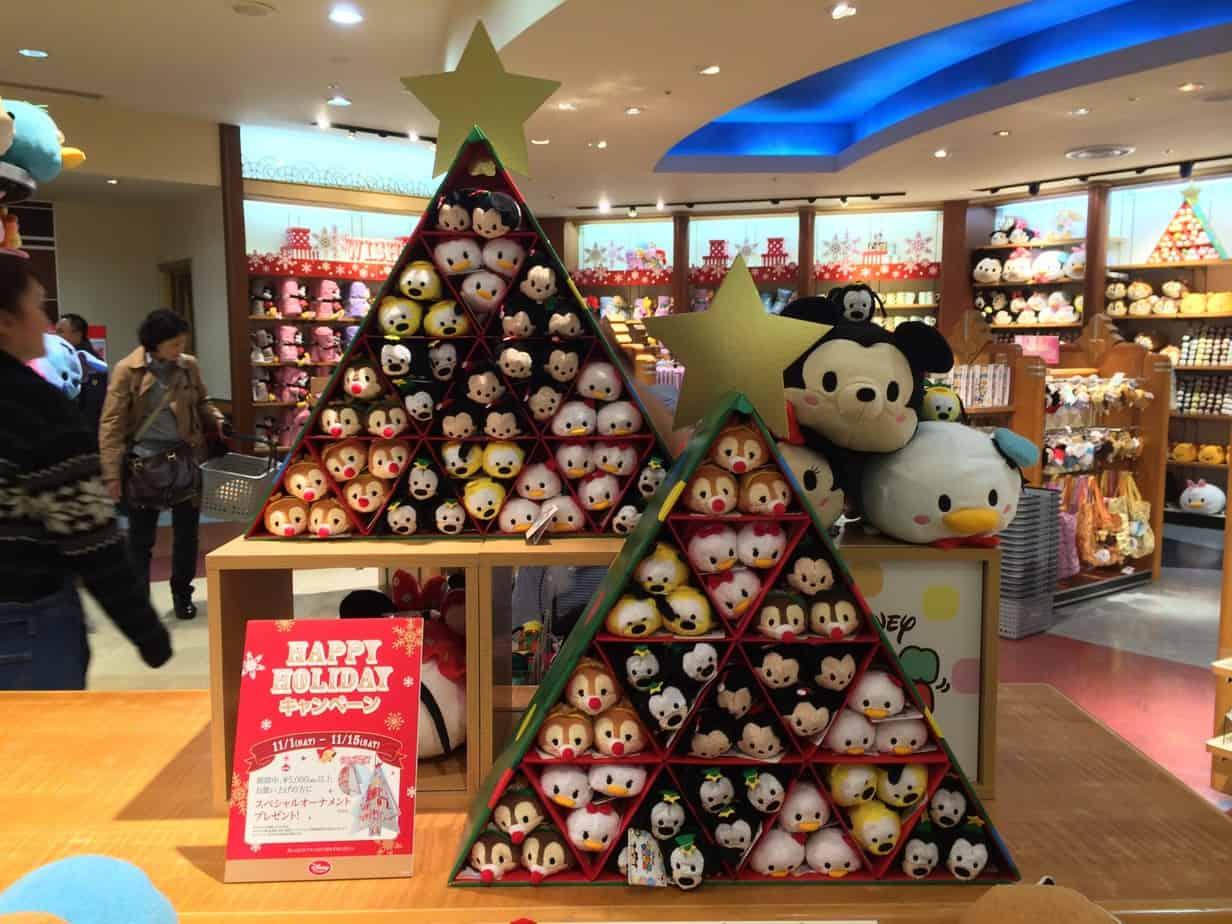 christmas tsum tsum display at the disney store - Disney Christmas Store