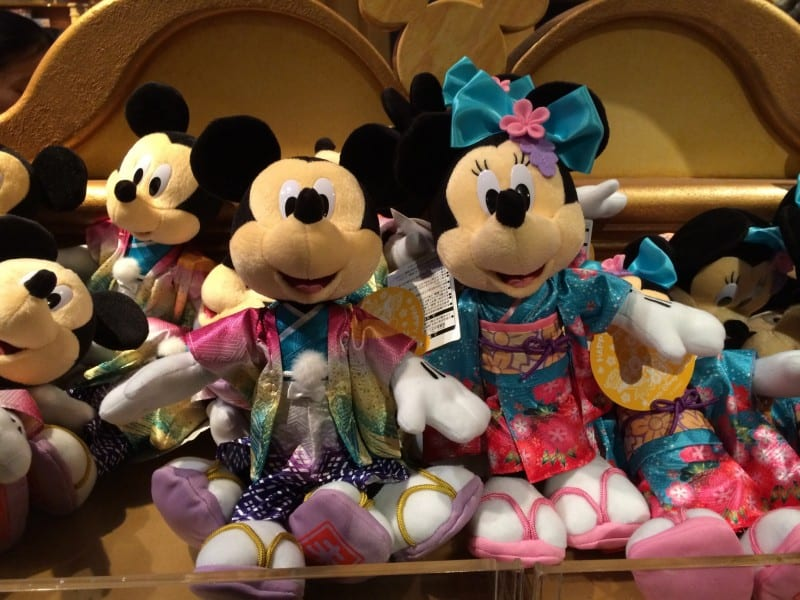 Mickey and Minnie Large Plush New Years 2015 Tokyo Disney Resort