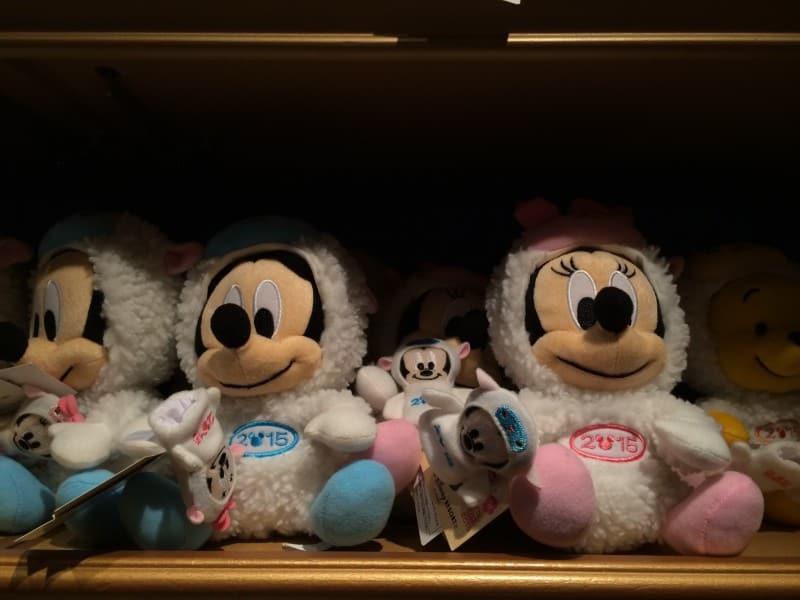 Mickey and Minnie Lamb Plush New Years 2015 Tokyo Disney Resort