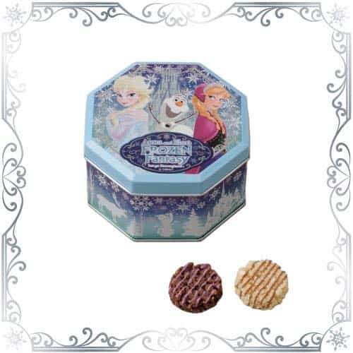 Chocolate Cookies with Nuts Anna and Elsa Frozen Fantasy Tokyo Disneyland