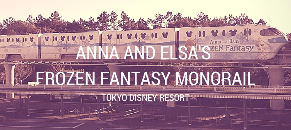 Tokyo Disney Resort Liner Anna and Elsa Frozen Fantasy Decorations