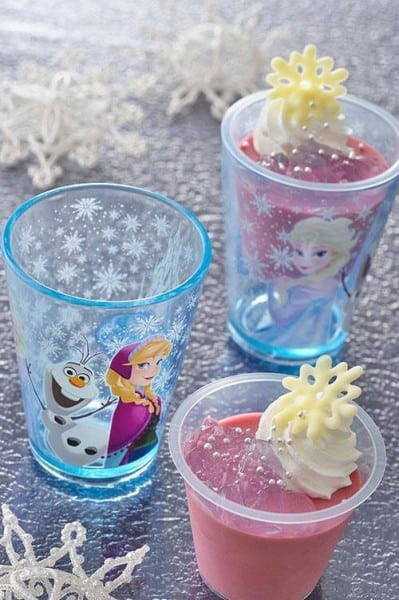 Chassis Mousse with Souvenir Cup Anna and Elsa Frozen Fantasy Tokyo Disneyland