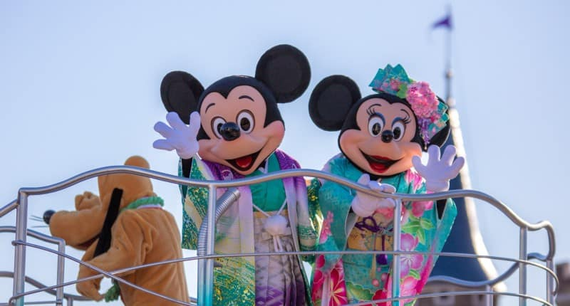 Mickey Minnie and Pluto Tokyo Disneyland New Years Greeting 2015 Duy Phan Photography