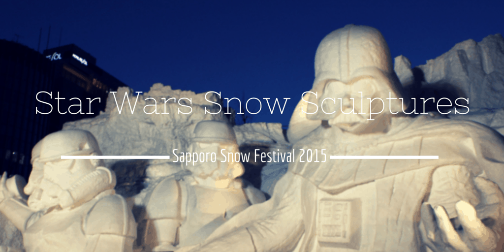 Star Wars Snow Sculptures at Sapporo Snow Festival