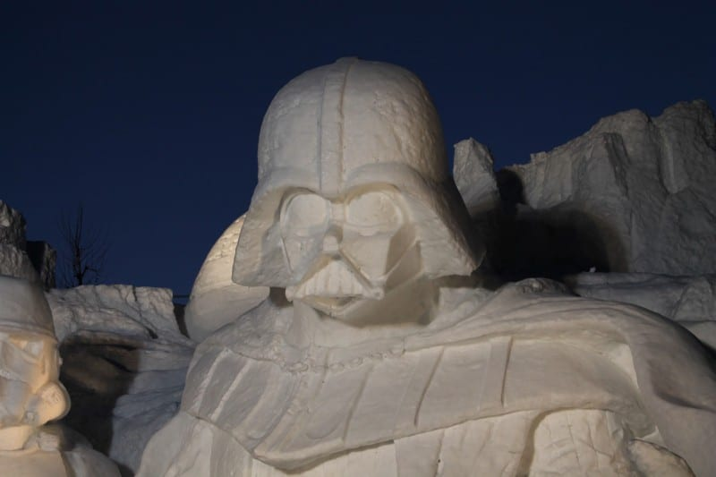 Star Wars Snow Sculpture Sapporo Japan Darth Vader