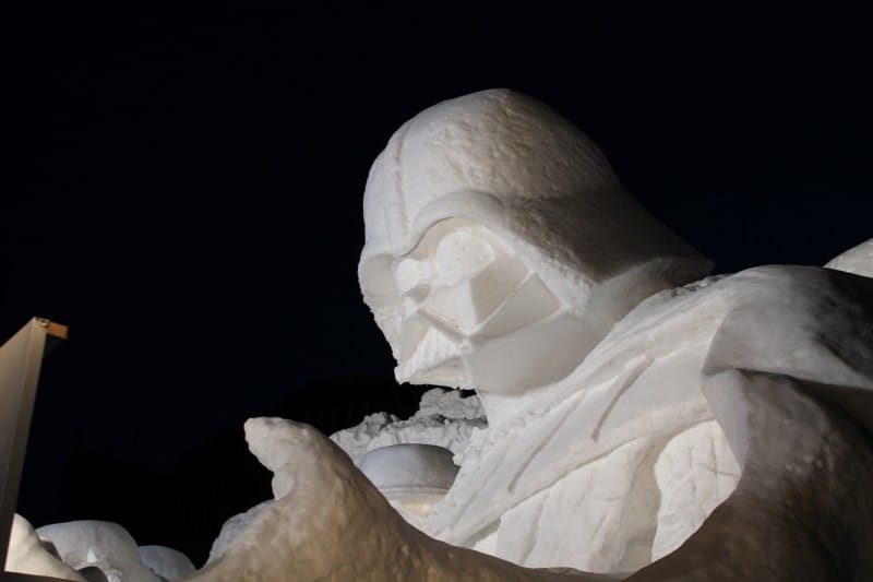 Star Wars Snow Sculpture Sapporo Japan Darth Vader Side Profile