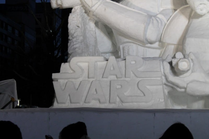 Star Wars Snow Sculpture Sapporo Japan Logo