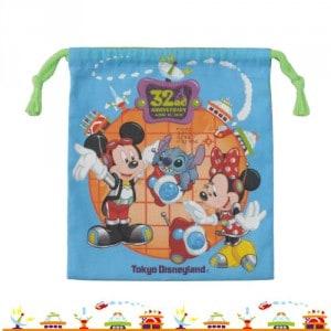 Drawstring Bag Front Tokyo Disneyland 32nd Anniversary