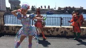 Fashionable Easter at Tokyo DisneySea Mermaid Lagoon Female Dancer Upclose