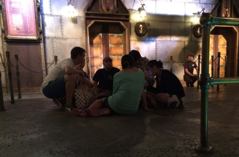 Sitting on Ground During Earthquake 30th Birthdy at Tokyo DisneySea