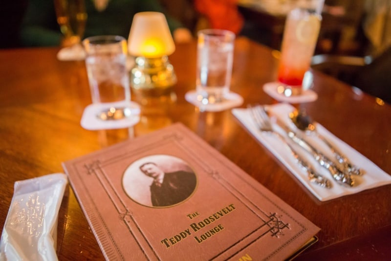 You need to have a drink at the Teddy Roosevelt Lounge in Tokyo DisneySea