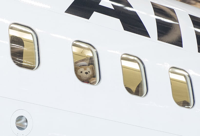 Duffy Themed Airplane Begins Domestic Travel in Japan
