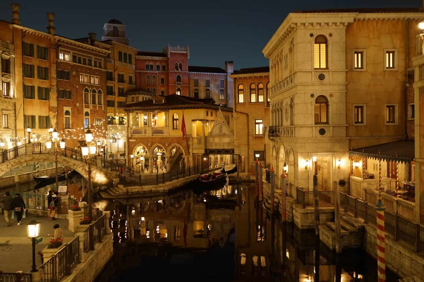 Behind the main area for the Mediterranean Harbor Tokyo DisneySea