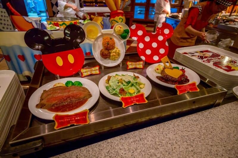 Queen of Hearts Banquet Hall Tokyo Disneyland Food Display