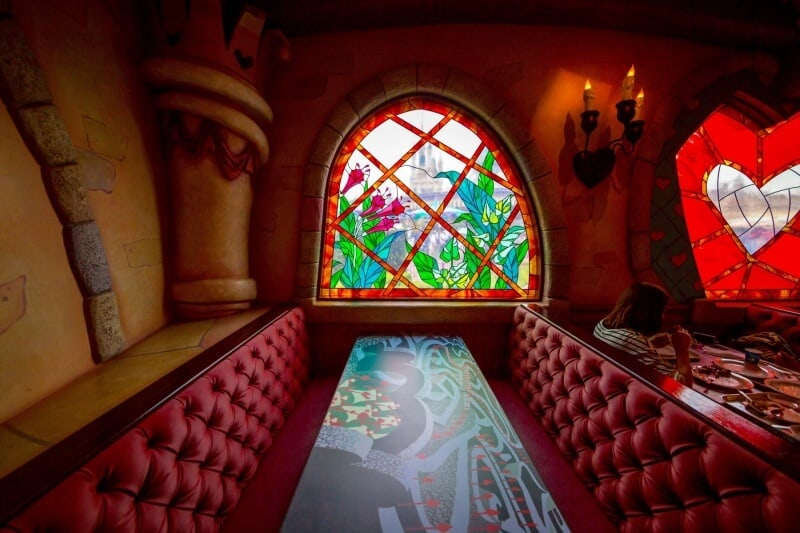 Queen of Hearts Banquet Hall Tokyo Disneyland Stained Glass