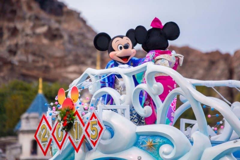 Mickey Minnie Kimono Tokyo DisneySea New Years