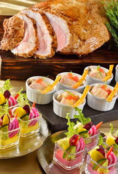 Special Dinner Buffet Adults ¥6,380 7-12 years ¥4,320 4-6 years ¥2,890 Please Note: Only available December 19-25