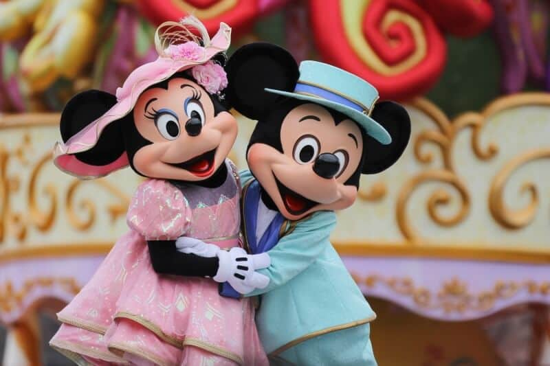 Mickey and Minnie during Easter at Tokyo DisneySea