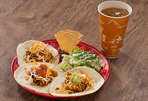 Chicken and Chorizo Tacos Set ¥1,180 Separately ¥970