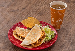 Pork and Potato Quesadillas Set ¥1,180 Separately ¥970