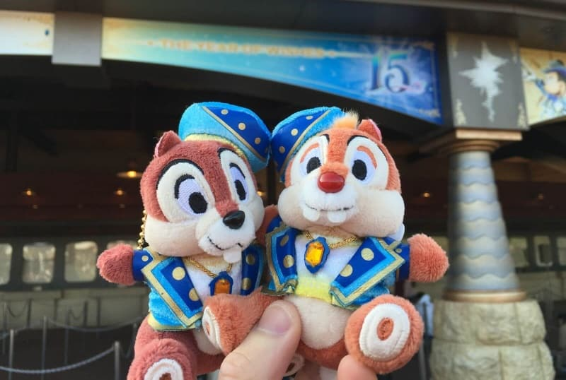 Chip N Dale Plush Tokyo DisneySea 15th Anniversary Year of Wishes