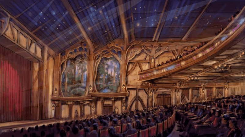 Live Entertainment Theater Tokyo Disneyland Fantastyland Inside