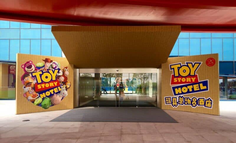 Toy Story Hotel Entrance Shanghai Disneyland Grand Opening