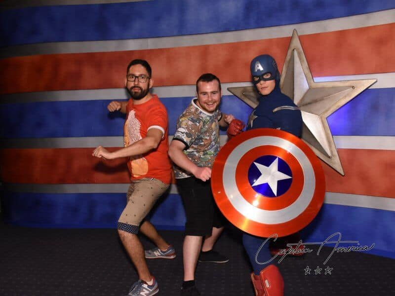 Captain American Meet N Greet Shanghai Disneyland