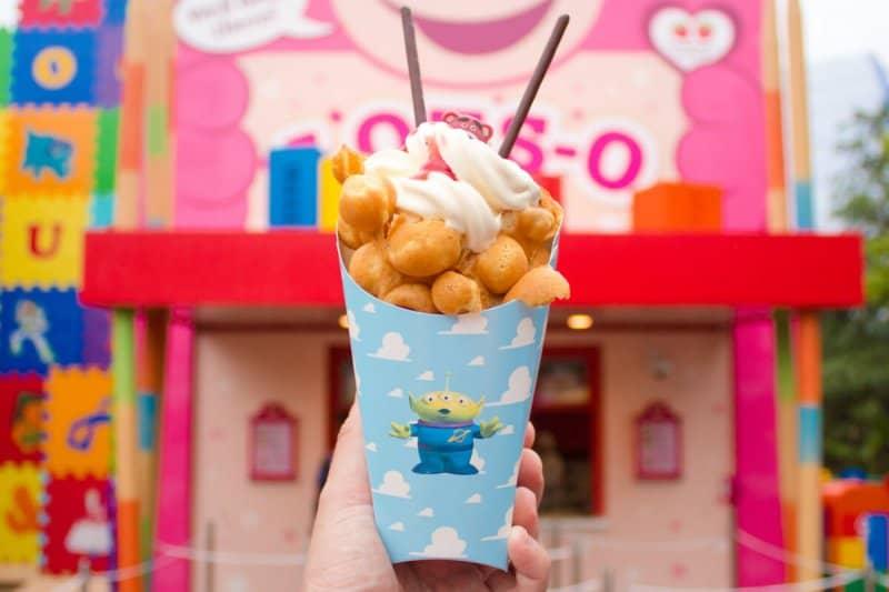 Lotso Bubble Waffle Shanghai Disneyland