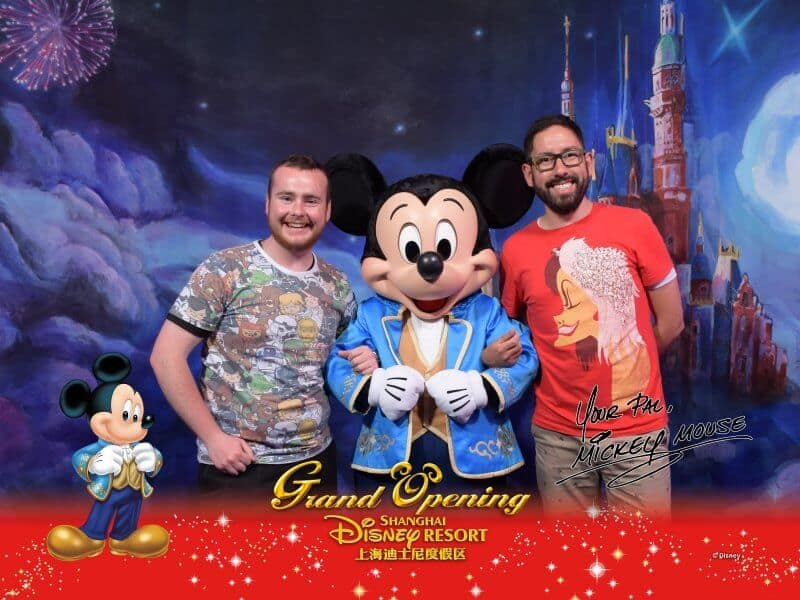 Mickey Meet N Greet Shanghai Disneyland