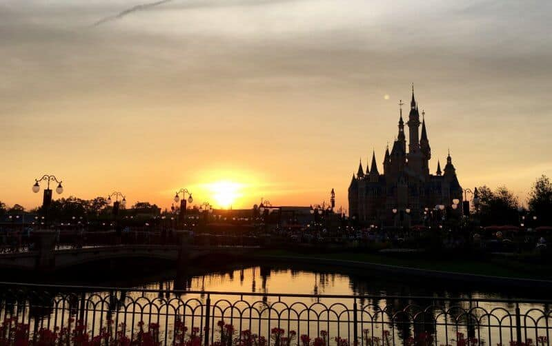Shanghai Disneyland Sunset