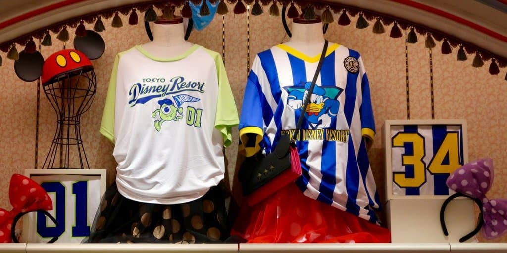 Disney Uniform Jerseys on Sale at Tokyo Disney Resort