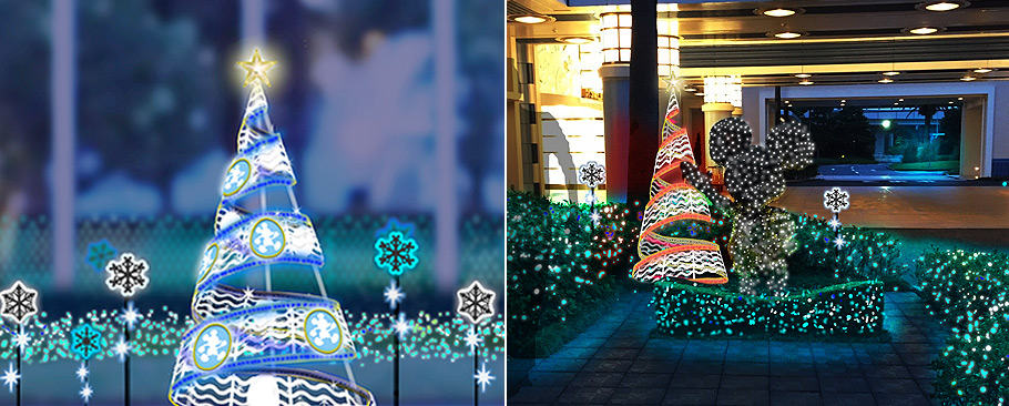 New Christmas Illuminations will be on display at Disney's Ambassador Hotel during Christmas