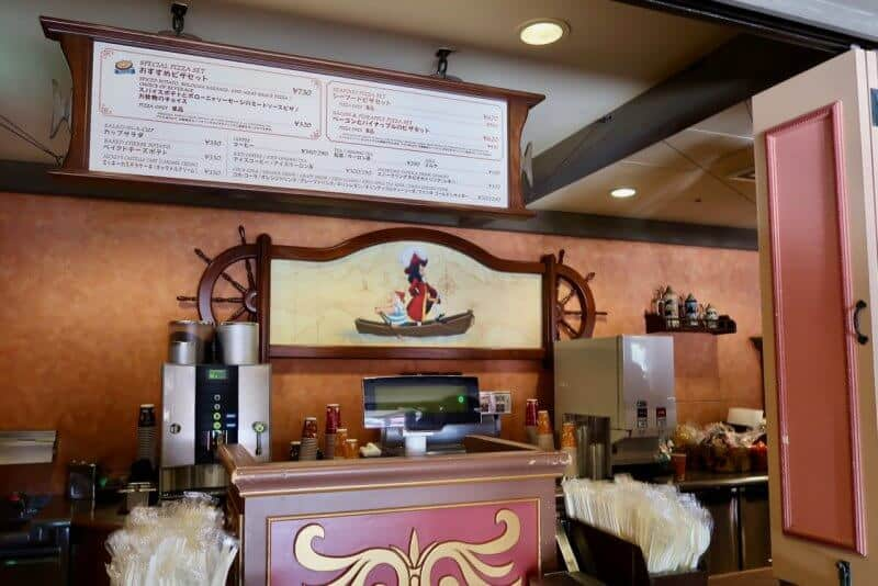 Counter Captain Hook's Galley Tokyo Disneyland