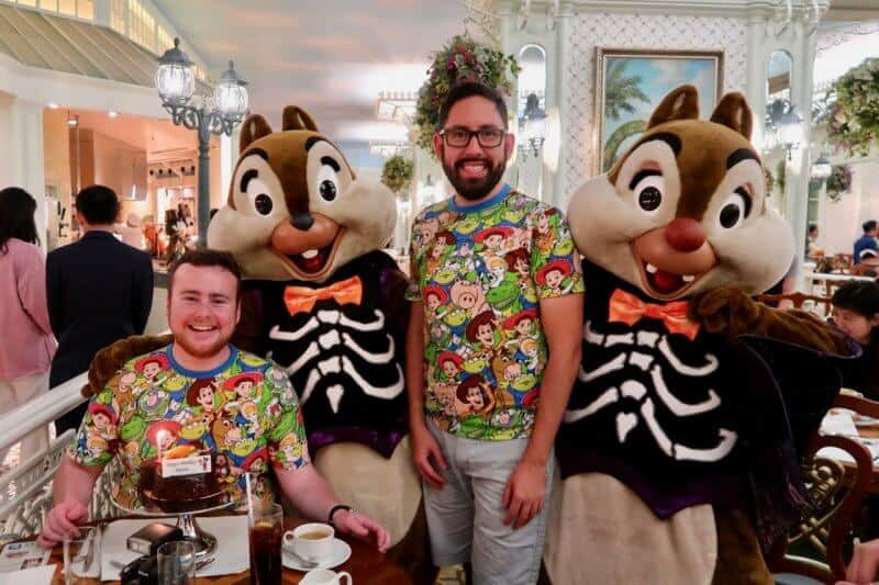 Chip N Dale at the Enchanted Garden Buffet for Halloween