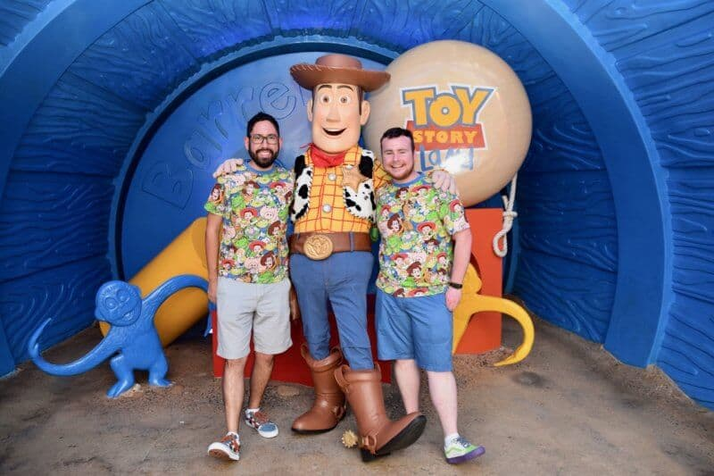 Woody in Toy Story Land at Hong Kong Disneyland
