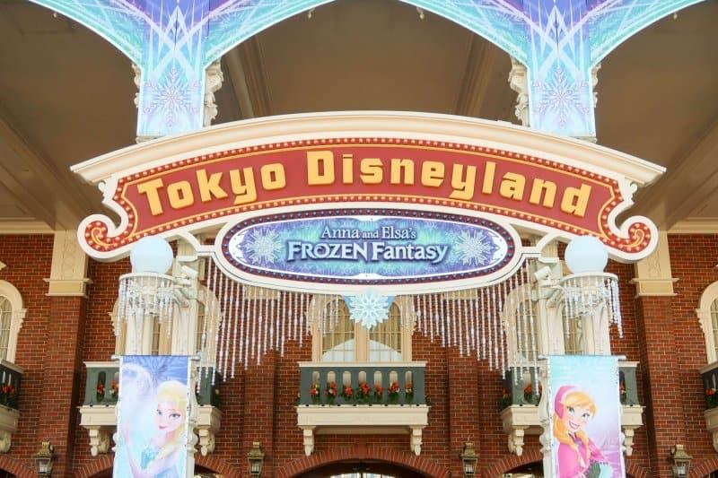 Anna and Elsa Frozen Fantasy World Bazaar Tokyo Disneyland