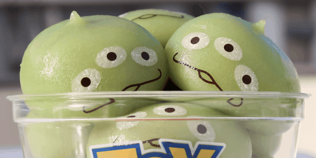 Green Alien Dumplings Available in Larger Size for Limited Time at Tokyo Disneyland
