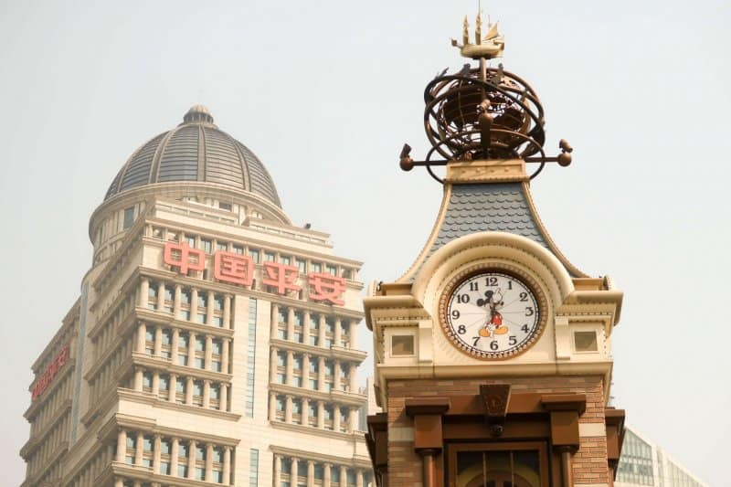 Disney Store Shanghai Clock Tower View