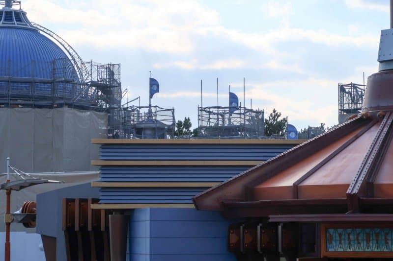 Finding Nemo SeaRider Construction Tokyo DisneySea Blue Roof Zoomed