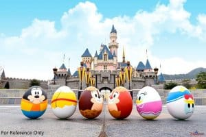 Hong Kong Disneyland Disney Friends Springtime Carnival Eggs Castle