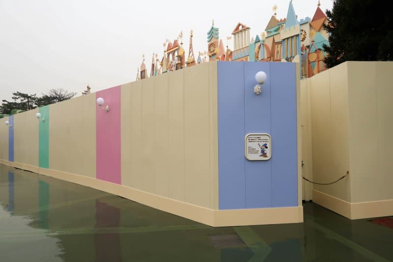 its a small world Construction Tokyo Disneyland