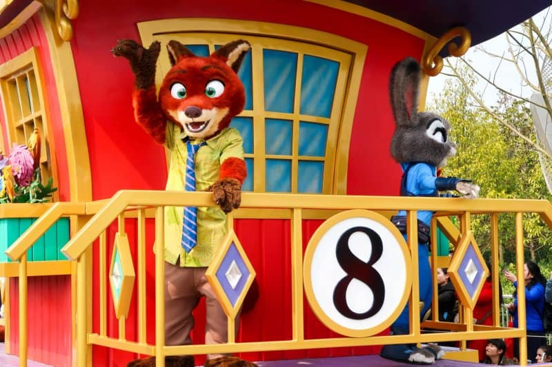 Nick and Judy in Mickey's Storybook Express Shanghai Disneyland