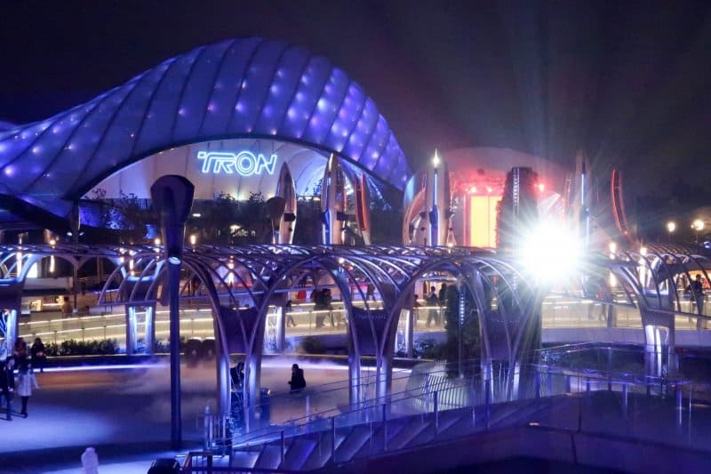 TRON at Night Shanghai Disneyland
