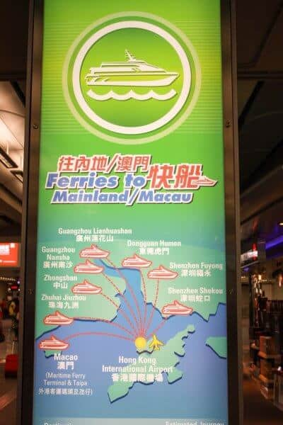 Ferries to Macau