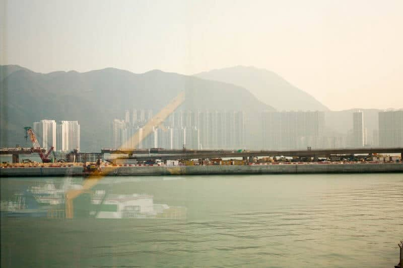 Hong Kong from Ferry at Airport