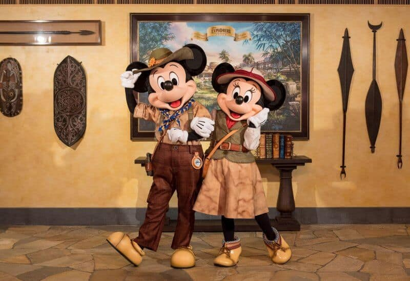 Explorer Mickey and Minnie