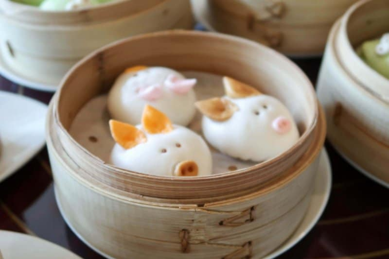 Hong Kong Disneyland Dim Sum Crystal Lotus Pigs