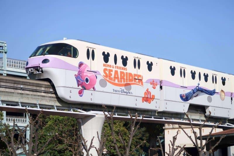 Finding Nemo SeaRider Monorail Tokyo Disney Resort