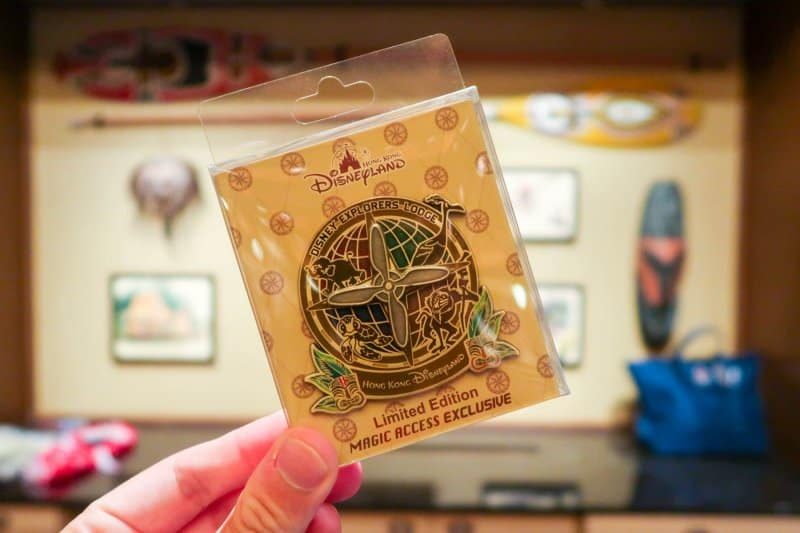 Magic Access Exclusive Pin Disney Explorers Lodge Hong Kong Disneyland